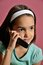 Stock Image : Hispanic Girl on the Cell Phone
