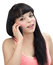 Stock Image : Hispanic girl on the phone