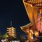 Stock Image : Historic Japanese temple at night, Sensoji, Asakusa, Tokyo