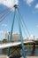 Stock Image : Holbeinsteg Bridge Frankfurt
