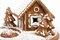 Stock Image : Holiday Gingerbread house isolated on white.