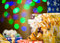 Stock Image : Holiday presents at abstract background