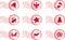 Stock Image : Holiday Stamp Set Grunge Motif
