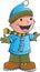 Stock Image : Holiday Winter Boy Vector