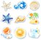 Stock Image : Holidays on the beach, set of vector icons