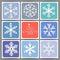 Stock Image : 9 Holidays cards