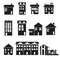 Stock Image : Home and apartment icons set