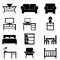Stock Image : Home furniture icons