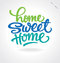 Stock Image : 'home sweet home' hand lettering (vector)