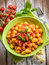 Stock Image : Homemade gnocchi with tomato sauce