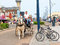 Stock Image : Horse taxi Great Yarmouth, United Kingdom.