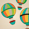 Stock Image : Hot air balloons