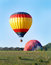 Stock Image : Hot Air Balloons landing