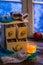 Stock Image : Hot linden tea is the best in winter