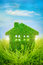 Stock Image : House on the green grass