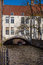 Stock Image : House Over a Canal Bruges