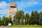 Stock Image : House with water tower. Narva, Estonia