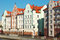 Stock Image : Houses on the waterfront in Kaliningrad