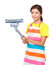 Stock Image : Housewife hold dust vacuum