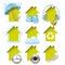 Stock Image : Housing icons