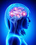 Stock Image : Human active brain