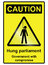 Stock Image : Hung Parliament Hazard Sign