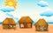 Stock Image : Huts on beach