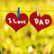 Stock Image : I love Dad message on Red heart shape