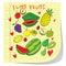 Stock Image : I Love Fruits