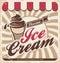Stock Image : Ice cream retro poster