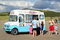 Stock Image : Ice cream van on a Welsh beach.