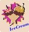 Stock Image : IceCream waffle cones