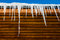 Stock Image : Icicles and Roof