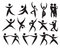 Stock Image : Icon of people dancing in different styles.