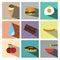 Stock Image : Icon set  illustration eps10