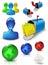 Stock Image : Social media web mail icons