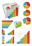 Stock Image : Icons And Chart Elements