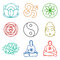 Stock Image : Icons of yoga