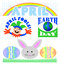 Stock Image : April Events Clip Art Set/eps