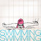 Stock Image : Illustration of Girl swimming in butterfly stroke style