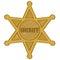 Stock Image : Sheriff star badge vector
