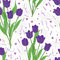Stock Image : Purple Tulip Seamless Pattern_eps