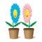 Stock Image : Illustration two flowers.