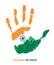 Stock Image :  India flaga w palmie