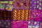 Stock Image : Indian patchwork quilt
