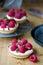 Stock Image : Individual raspberry tarts