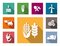Stock Image : Industrial flat icons set