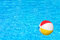 Stock Image : Inflatable ball in swimming pool