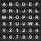 Stock Image : Information alphabet and digits