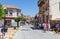 Stock Image : Inkilap pedestrian street in Cesme, Turkey